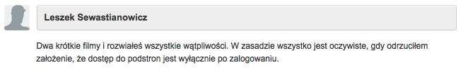 Opina Leszek Sewastianowicz
